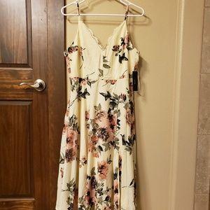 Lulu's Emilee Cream Midi Dress